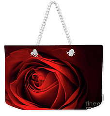 Red Rose Close Weekender Tote Bag by Charline Xia