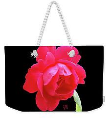 Red Rose Cutout Weekender Tote Bag