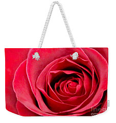 Weekender Tote Bag featuring the photograph Red Rose by DJ Florek