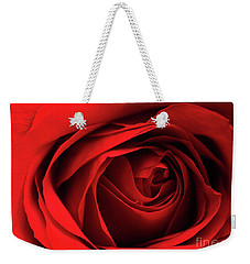 Red Rose Flower Weekender Tote Bag by Charline Xia