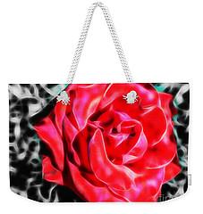 Red Rose Fractal Weekender Tote Bag