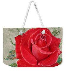 Red Rose Weekender Tote Bag by Jasna Dragun