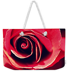 Red Rose Weekender Tote Bag by Joseph Skompski