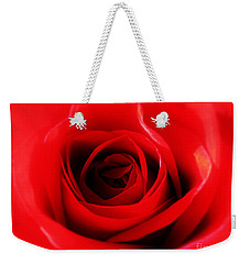 Red Rose Weekender Tote Bag by Nina Ficur Feenan