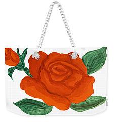 Red Rose, Painting Weekender Tote Bag by Irina Afonskaya