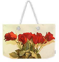 Red Rose Portrait Weekender Tote Bag