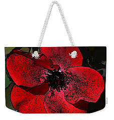 Weekender Tote Bag featuring the photograph Red Rose by Richard Ricci