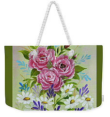 Red Roses Alla Prima Weekender Tote Bag by Jimmie Bartlett