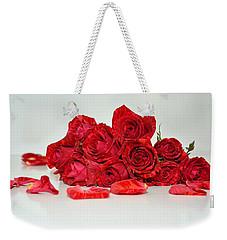 Red Roses And Rose Petals Weekender Tote Bag