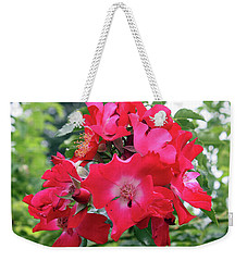Red Roses Weekender Tote Bag by Ellen Tully