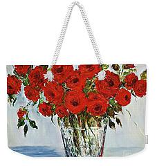 Red Roses Memories Weekender Tote Bag