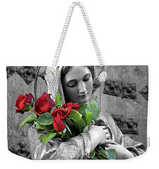 Red Roses Weekender Tote Bag by Munir Alawi