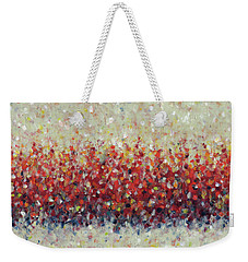 Red Run Weekender Tote Bag by Lynne Taetzsch