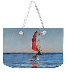 Red Sail Early Sunset Weekender Tote Bag