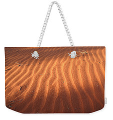 Weekender Tote Bag featuring the photograph Red Sand Dune Ripples In Detail by Keiran Lusk