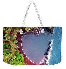 Red Sand Heart Weekender Tote Bag