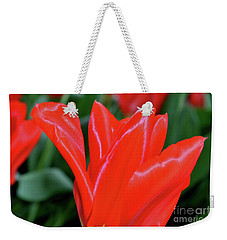 Red Satin Weekender Tote Bag