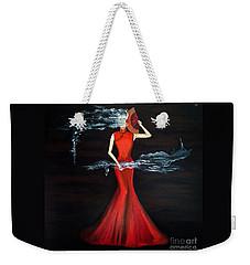 Scented Red Color Weekender Tote Bag