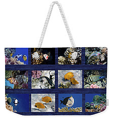 Red Sea Sealife Collage Weekender Tote Bag