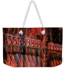 Weekender Tote Bag featuring the photograph Red Shadows by James Barber