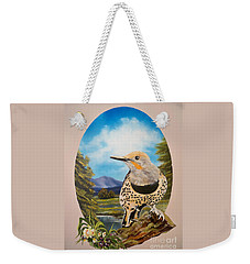 Flying Lamb Productions                       Red Shafted Flicker Weekender Tote Bag