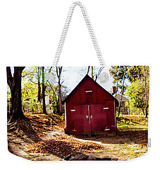 Red Shed Weekender Tote Bag by Randy Sylvia