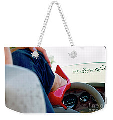 Red Shoe Driving Weekender Tote Bag by Bob Pardue