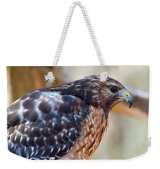 Weekender Tote Bag featuring the photograph Red Shouldered Hawk 2 by Chris Flees