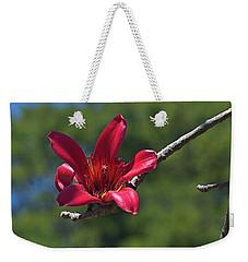 Red Silk Blossom Weekender Tote Bag