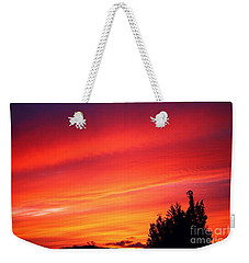 Weekender Tote Bag featuring the photograph Red Skies At Night  by Nick Gustafson
