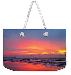Red Sky At Morning Weekender Tote Bag by Betty Buller Whitehead