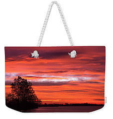 Red Sky At Morning Pano Weekender Tote Bag by James Barber