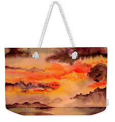 Red Sky At Night Weekender Tote Bag