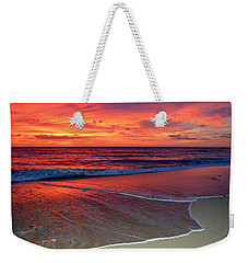 Red Sky In Morning Weekender Tote Bag