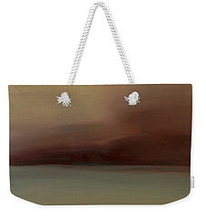 Weekender Tote Bag featuring the painting Red Sky by Michelle Abrams