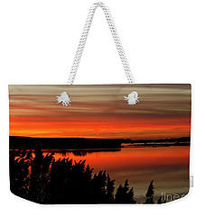 Red Sky On The Illinois River Weekender Tote Bag