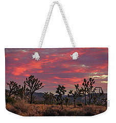 Red Sky Over Joshua Tree Weekender Tote Bag