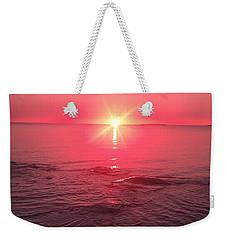Red Sky Sunset Weekender Tote Bag
