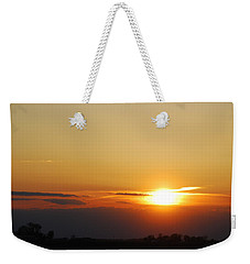 Red Sky Sunset Weekender Tote Bag