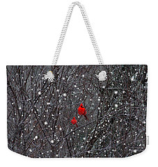 Red Snow Weekender Tote Bag