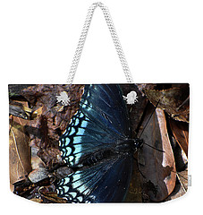 Weekender Tote Bag featuring the photograph Red Spotted Purple Admiral by Skip Willits