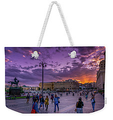 Red Square At Sunset Weekender Tote Bag