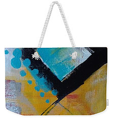 Weekender Tote Bag featuring the painting Red Square by Suzzanna Frank