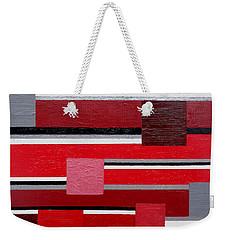 Red Square Weekender Tote Bag