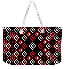 Red Squared Weekender Tote Bag