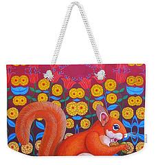 Red Squirrel Weekender Tote Bag by Jane Tattersfield