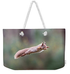 Red Squirrel Leaping Weekender Tote Bag