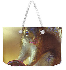 Red Squirrel With Pine Cone Weekender Tote Bag