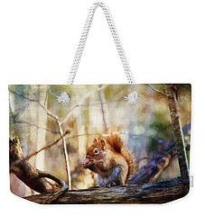 Red Squirrel With Pinecone Weekender Tote Bag