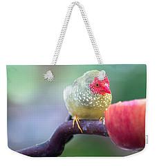 Red Star Finch Weekender Tote Bag